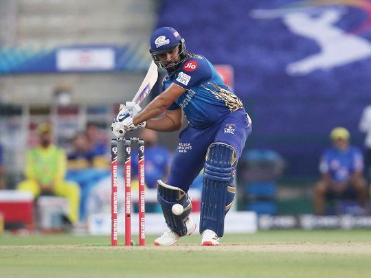 Rohit Sharma plays a shot