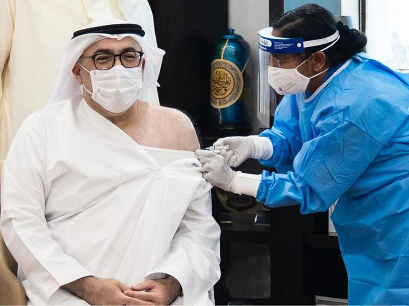 COVID-19 vaccine: UAE Minister of Health received first dose