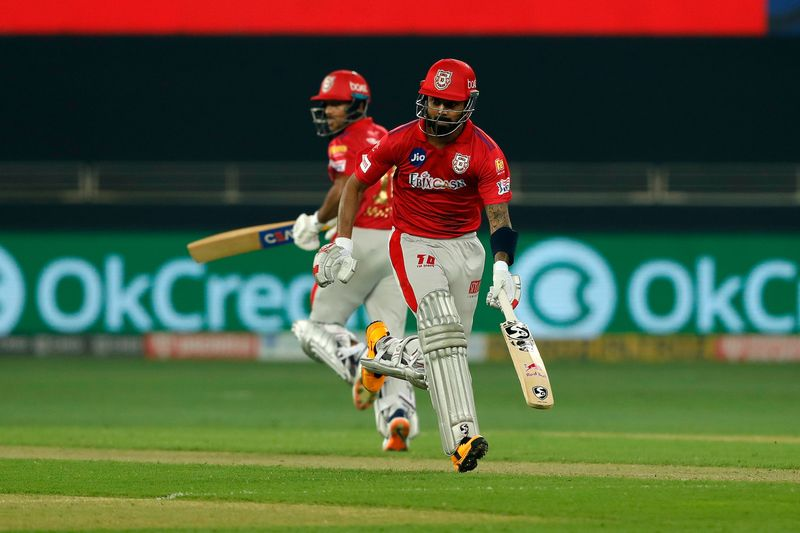 KL Rahul and Mayank Agarwal of Kings XI Punjab