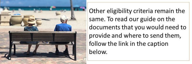 Other eligibility criteria remain the same.