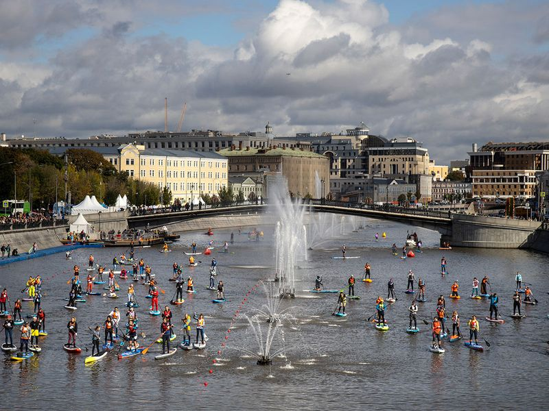 Photos: Stand Up Paddle Surfing festival in Moscow