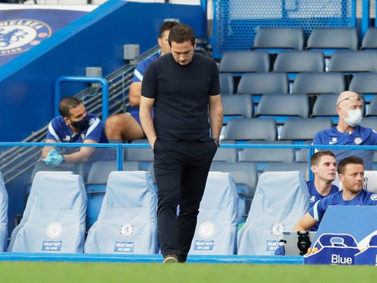 Frank Lampard's Chelsea lost to Liverpool