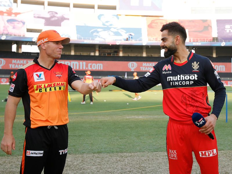 It was friends reunited as Sunrisers Hyderabad skipper David Warner and Royal Challengers Bangalore captain Virat Kohli greeted each other in Dubai ahead of their IPL clash.