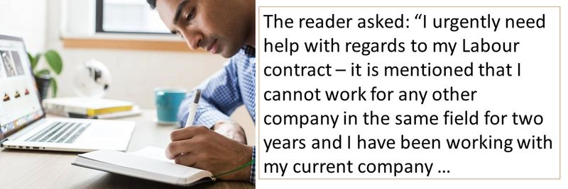 My contract mentions that I cannot work for any other company in the same field for two years