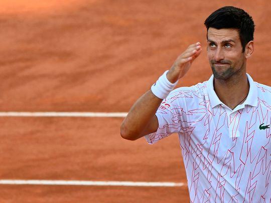 Novak Djokovic was warned for swearing at Italian Open.