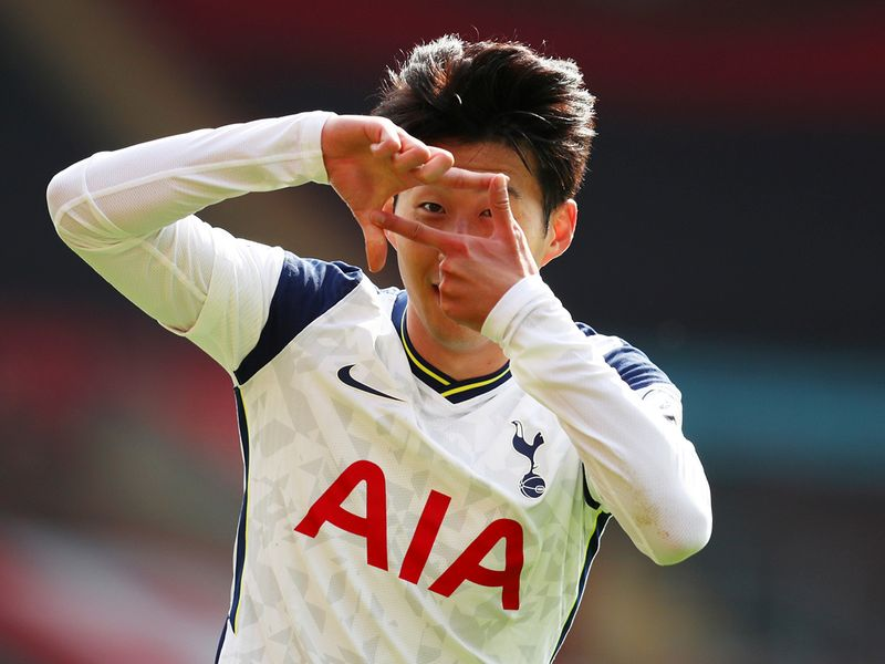 Son Heung-Min scored four goals in Tottenham's win over Southampton