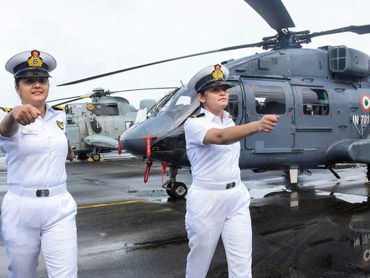 Women navy officers Kochi southern naval command
