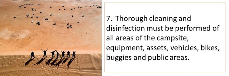 7. Thorough cleaning and disinfection must be performed of all areas and equipment.