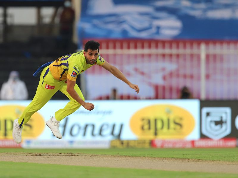 CSK won the toss and chose to field, with Deepak Chahar getting the ball rolling in Sharjah.