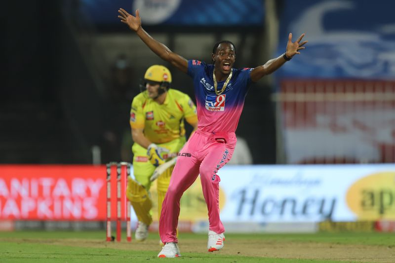 Jofra Archer of Rajasthan Royals appeals unsuccessfully.