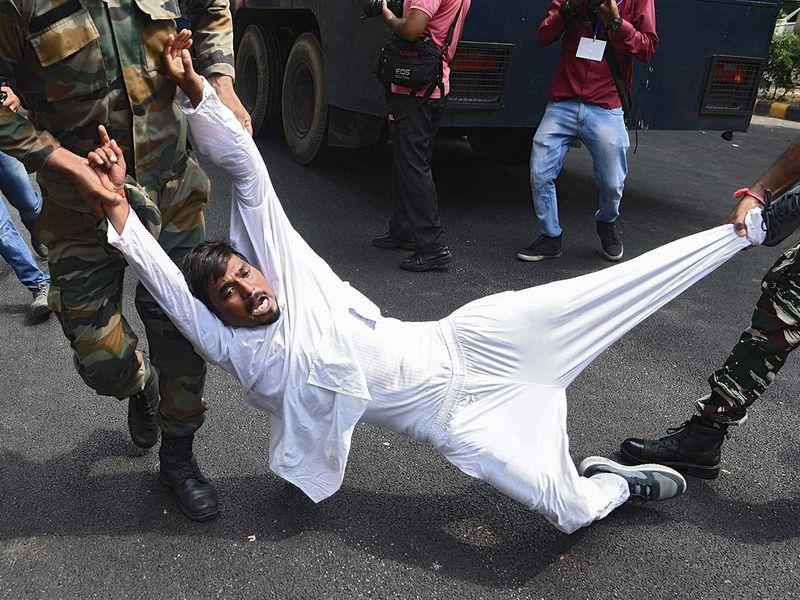 Protest farm bill Congress India