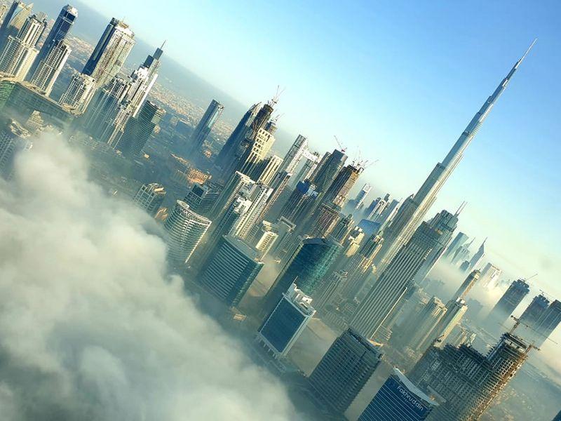 reader picture fog weather dubai