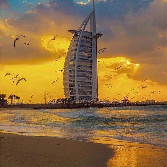 Burj Al Arab  sun set image