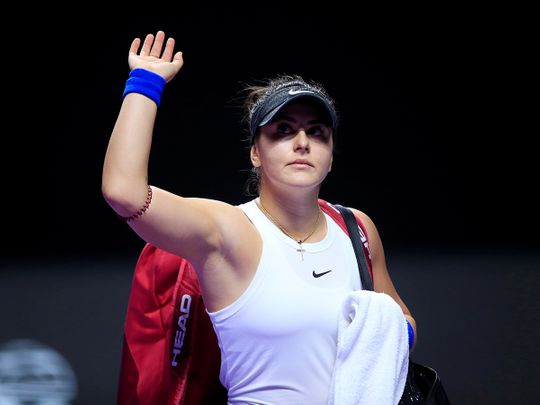 Canada's Bianca Andreescu is out of the French Open