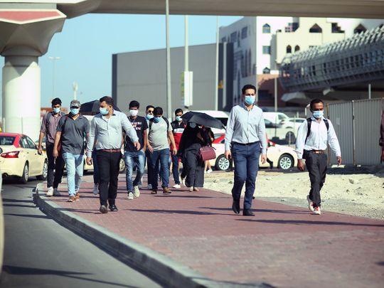 Stock Dubai office working staff