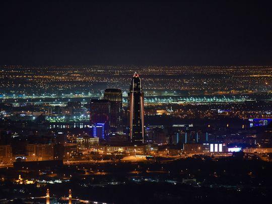 Stock Dubai skyline city