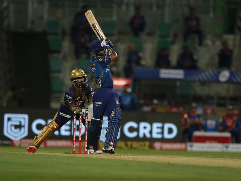 Yadav and Rohit were motoring, taking Mumbai to 94-1 in 10 overs, with both batsmen just shy of their fifty.