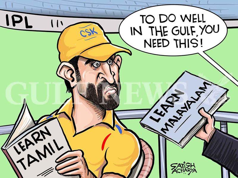 Cartoon from Satish: IPL 2020 in the UAE