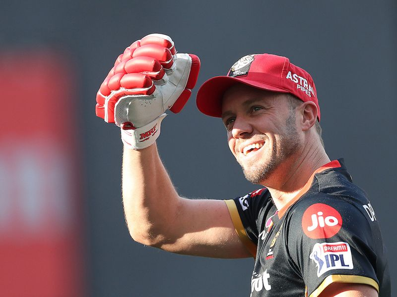 AB de Villiers of Royal Challengers Bangalore during match 6 of season 13 of the Dream 11 Indian Premier League (IPL) between Kings XI Punjab and Royal Challengers Bangalore held at the Dubai International Cricket Stadium, Dubai in the United Arab Emirates on the 24th September 2020. Photo by: Ron Gaunt / Sportzpics for BCCI
