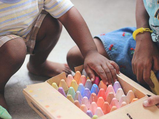 Children chalk