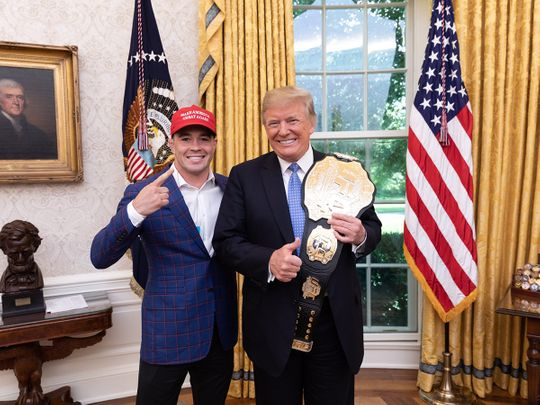 Colby Covington with US President Donald Trump
