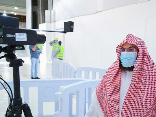 Grand Mosque Mecca thermal scanner