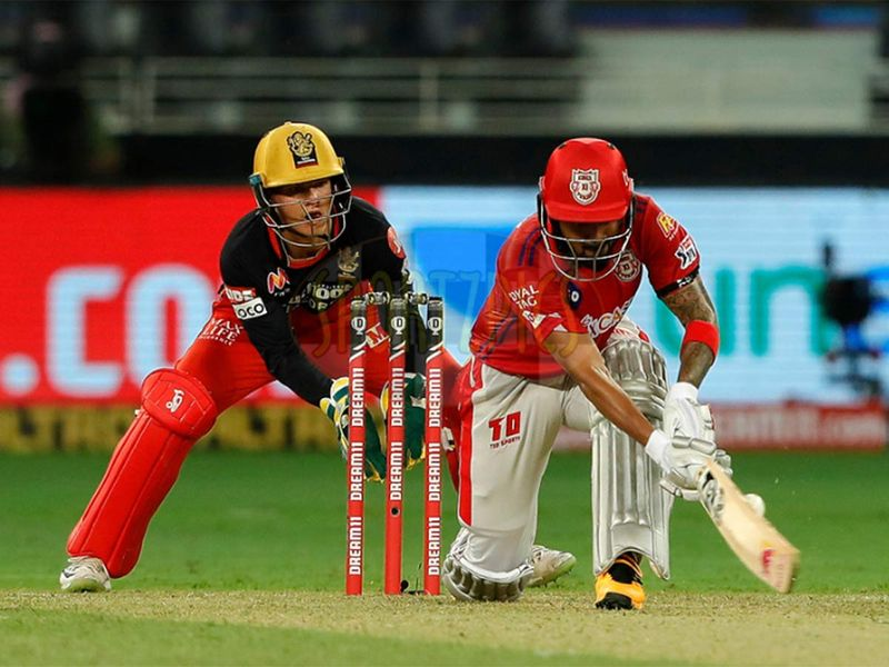 KL Rahul captain of Kings XI Punjab batting during match 6 of season 13, Dream 11 Indian Premier League (IPL) between Kings XI Punjab and Royal Challengers Bangalore