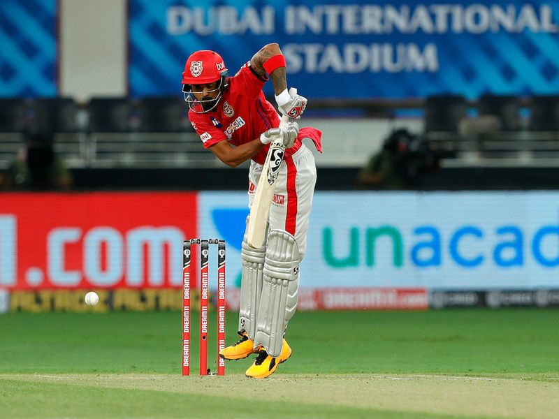 KL Rahul captain of Kings XI Punjab during match 6 of season 13, Dream 11 Indian Premier League (IPL) between Kings XI Punjab and Royal Challengers Bangalore held at the Dubai International Cricket Stadium, Dubai in the United Arab Emirates on the 24th September 2020. Photo by: Saikat Das / Sportzpics for BCCI