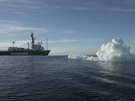 The Greenpeace's Arctic Sunrise ship
