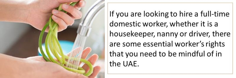 These are some essential rights of domestic workers in the UAE