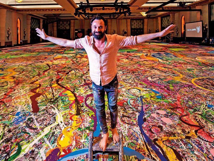 Artwork from world's largest canvas painting sells for $62 million in Dubai  | Arts Culture – Gulf News