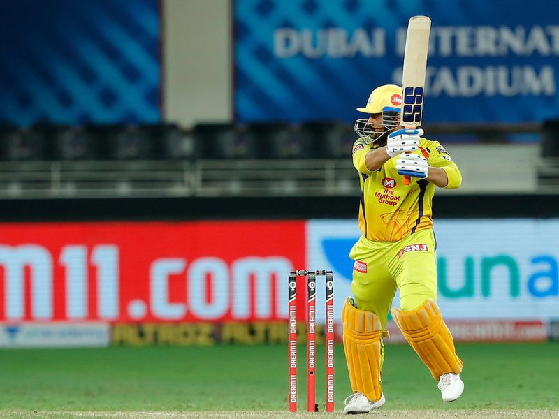 MS Dhoni captain of Chennai Superkings batting during match 7 of season 13, Dream 11 Indian Premier League (IPL) between Chennai Super Kings and Delhi Capitals held at the Dubai International Cricket Stadium, Dubai in the United Arab Emirates on the 25th September 2020. Photo by: Saikat Das / Sportzpics for BCCI