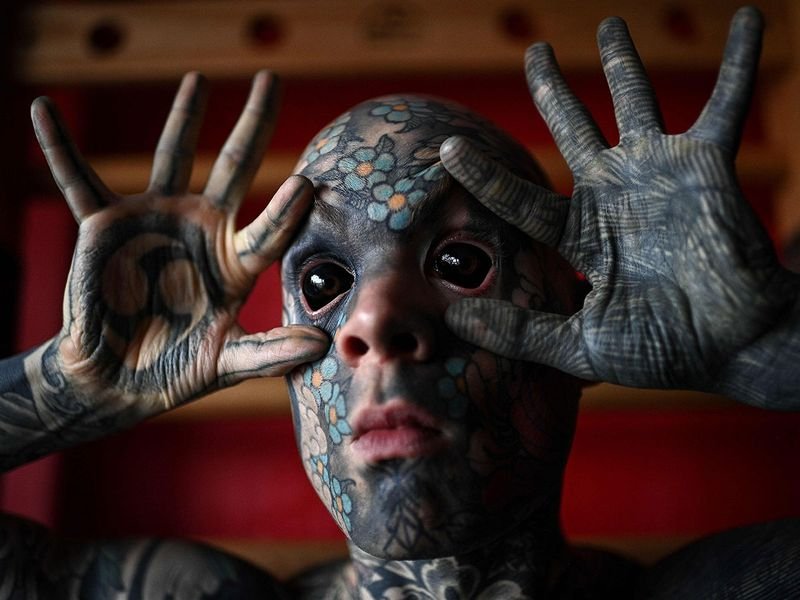 Sylvain Helaine mr snake tattoo