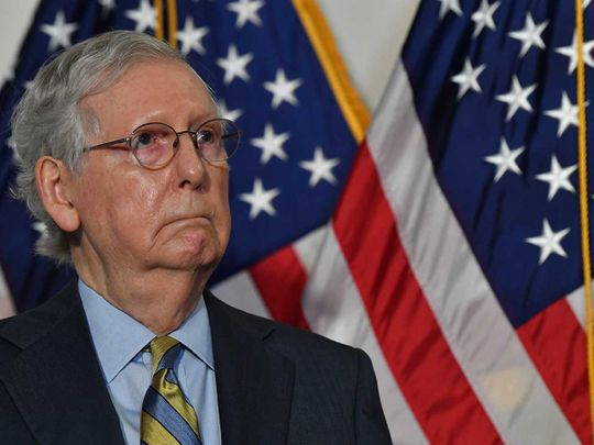 US Senate Majority Leader Mitch McConnell