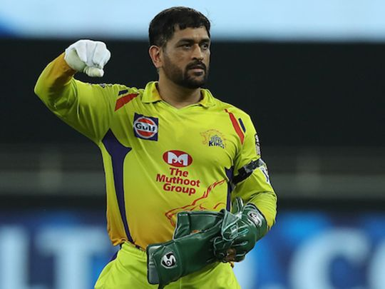 Chennai Super Kings skipper MS Dhoni wears a black armband in the match against Delhi Capitals.