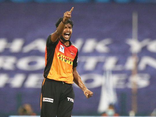 T Natarajan of Sunrisers Hyderabad