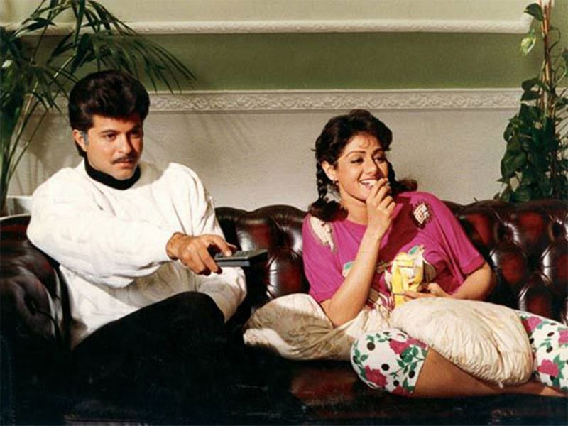 Anil Kapoor and Sridevi
