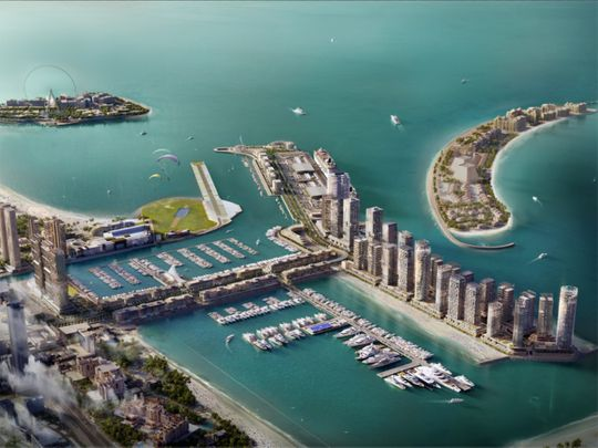 First two yachts drop in at Dubai's all-new Harbour Marina