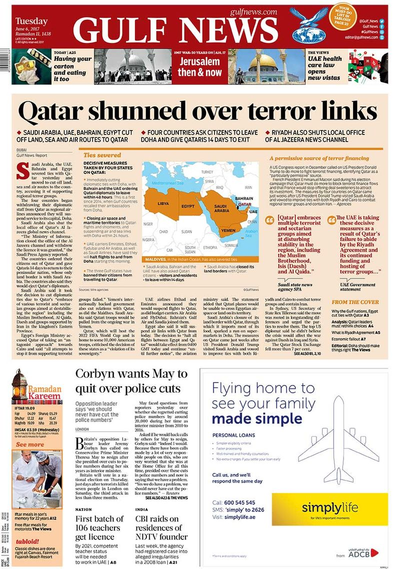 Front pages of Gulf @42