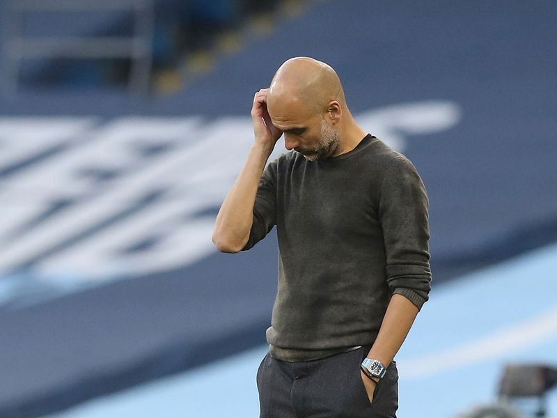 Pep Guardiola's Manchester City lost to Leicester City.