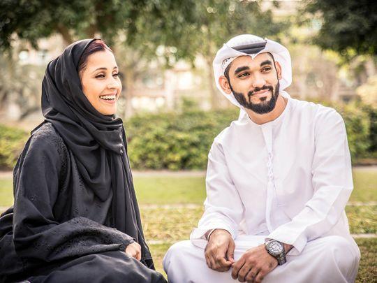 Stock Emirati couple UAE