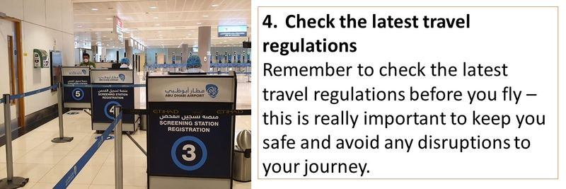 Guidelines for travelling to and from UAE airports