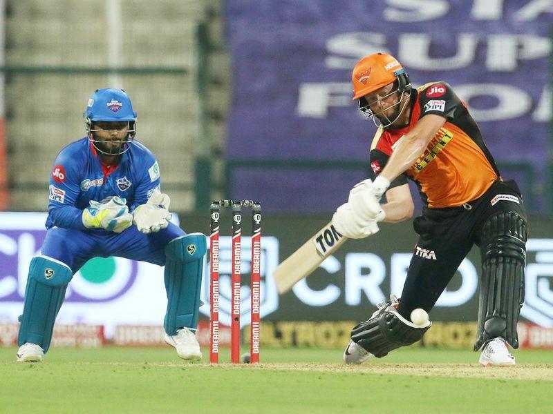 Jonny Bairstow of Sunrisers Hyderabad plays a shot