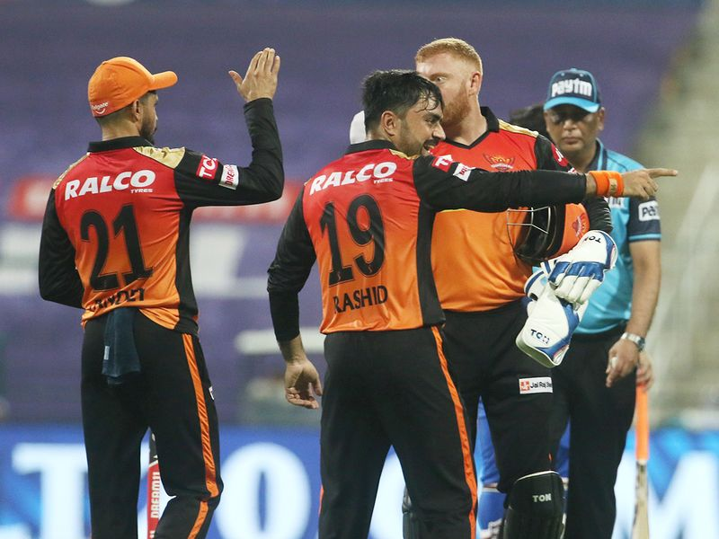 Sunrisers Hyderabad players celebrate