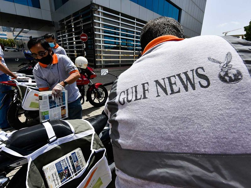 The Gulf News print delivery team.