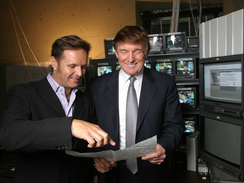 Trump Apprentice Mark Burnett, left, creator and producer of the reality show