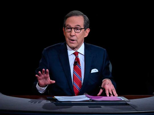 Moderator Chris Wallace presidential debate US biden trump