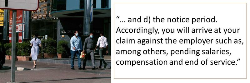 Accordingly, you will arrive at your claim against the employer such as, among others, pending salaries, compensation and end of service