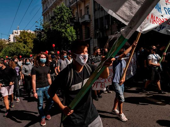 Athens school protests