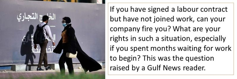 If you have signed a labour contract but have not joined work, can your company fire you?